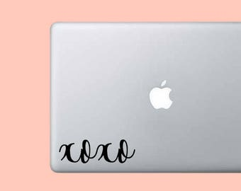 Xoxo Phrase Decal - Vinyl Decal Sticker - Phrase Decal - Cute Sticker - Hugs and Kisses Sticker - Laptop Sticker - Car Decal - Wall Decor