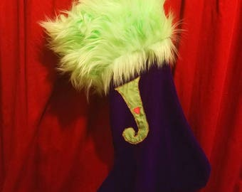 Joker Christmas Stocking