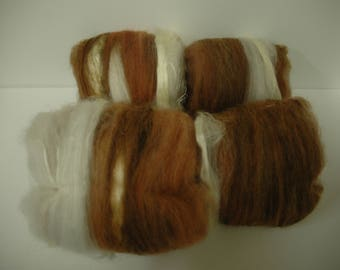Sweet Potato Pie drum carded batts for spinning, felting, or petting while chanting 'my precious'