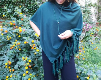 poncho , boho ponchi , hippie poncho , shawl , women wrap , women cape, coprispalle , winter poncho , tribal poncho, poncho with fringes