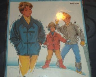 pattern jacket child size 4 to 10 years of use burda brand