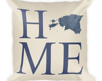 Estonia Pillow, Estonia Gifts, Estonian Decor, Estonia Home, Estonia Throw Pillow, Estonia Art, Estonia Map, Estonia Cushion, Estonian Art