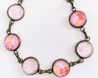 The 'Peppa Pig' Glass Bracelet