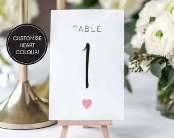 Printable Table Numbers/ Wedding Table Numbers/ Wedding Printable/ PDF/ Download/ Custom/ Elizabeth suite #049-18