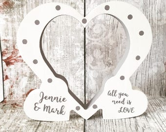 Wedding Gift, Wedding Anniversary, Valentines, Engagement Gift