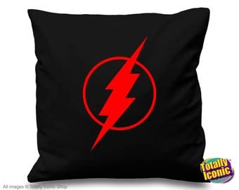 Black FlashPillow Cushion Cover- Inspired by the  TV series - Barry Allen, zoom, reverse flash, star labs,
