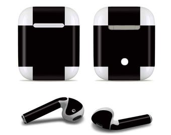 Apple custom made black Airpod Skins Decals for Apple Airpods Protective Wraps