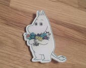 Moomin badgepinback button
