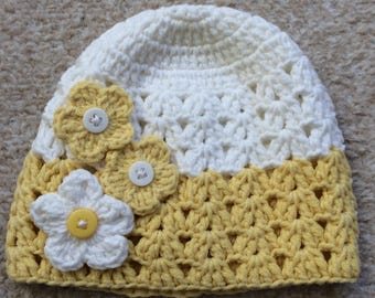Baby Girl Hat for Spring-Summer, Age 0-6 Months