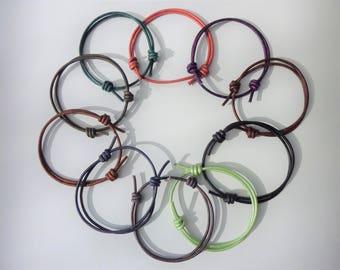 Adjustable leather bracelet, friendship bracelet, unisex bracelet, teen boy gift, teen girl gift, teen gift