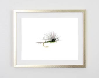 Fly Fishing Print / Flies / Fly Tying Painting / Father's Day Fishing / Birthday Gift for him /Decor /Gift for Dad / baby boy nursery / 5x7