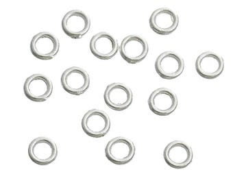 100 pc Silver Plated Soldered Closed Jumprings 4mm