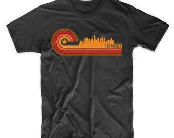 Retro Style Los Angeles California Skyline T-Shirt