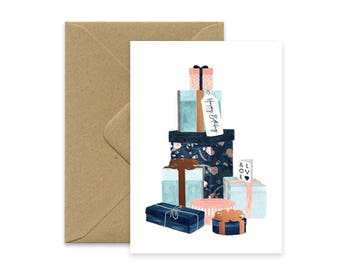A6 - Happy Birthday - Gifts - copper DETAILS card