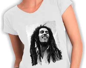 Bob marley-neck woman t shirt
