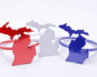 Patriotic Michigan Napkin Rings - Set of 6