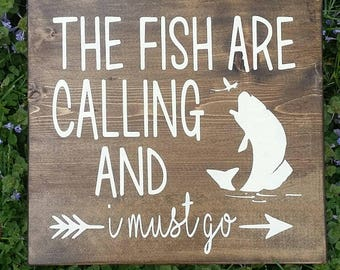 The fish are calling and I must go sign. Perfect for Father's Day!