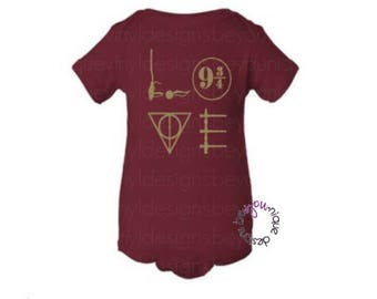 Love Harry Potter Shirt / hogwarts shirt / harry potter onesie / baby potter shirt/ kids potter shirt/ cute kids shirt/ harry potter mom