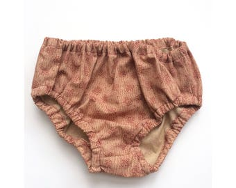 Vintage Floral Baby Bloomers Diaper Cover