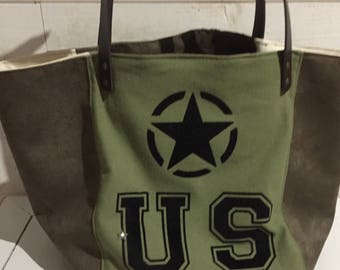 US ARMY STYLE tote bag