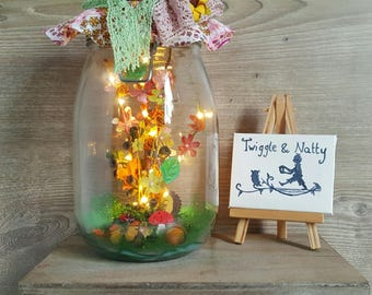 Woodland Fall Light Jar