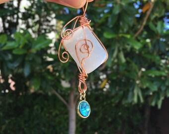 Selenite Moon Goddess Necklace