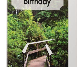 Forest Path Birthday card
