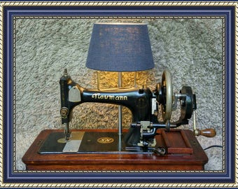 Unique | Naumann Antique Sewing Machine | Made in Germany 1920 | Table Lamp Lighting | Working Light & Sewing Machine | FREE Shipping*