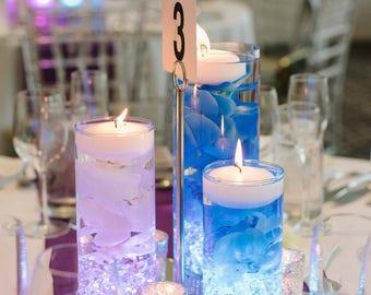 Wedding Centerpiece Floating Candle Blue Decor Purple LED