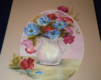 Flower Pitcher Canvas panting
