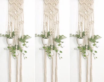 suspension pour plante en macram macrame wall hanging. Black Bedroom Furniture Sets. Home Design Ideas