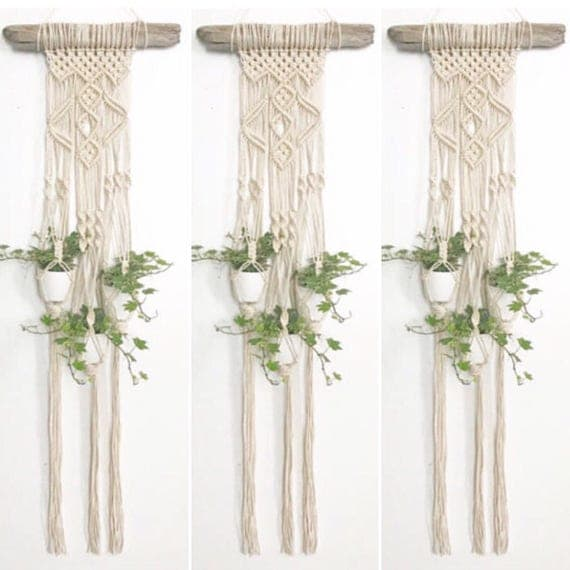 articles similaires suspension pour plante en macram macrame wall hanging tenture murale. Black Bedroom Furniture Sets. Home Design Ideas