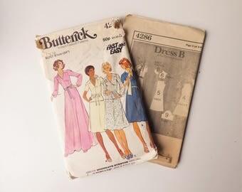 "Butterick 4286 Vintage Dress Pattern - Bust 87cm/34"""