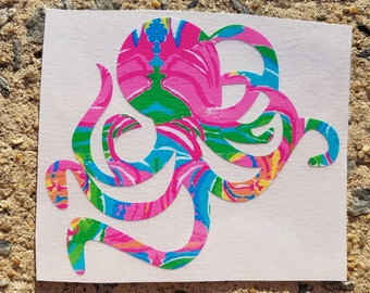 Lilly Inspired Octopus Vinyl Decal