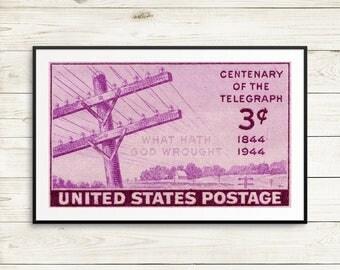 telegraph posters, amateur radio posters, ham radio posters, ham radio operators, century of the telegraph, telegraph postage stamps, prints
