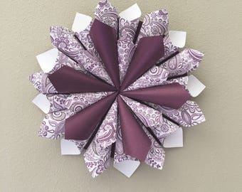 Wreath Paper Cone Wall Hanging Gift Decor