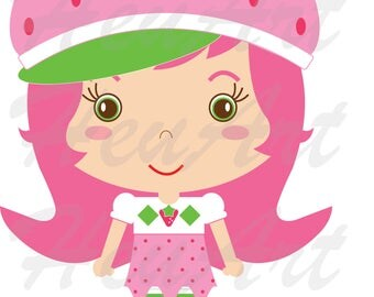 NEW Strawberry Shortcake Clipart,Strawberry Shortcake Printables,StrawberryShortcakeStickers,Party,Strawberry ShortcakeCharacter,Embroidery