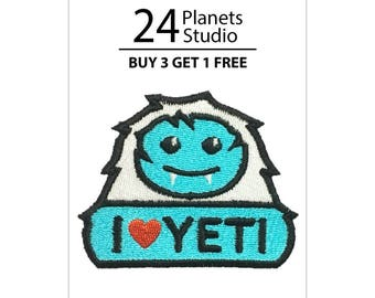 I Love YETI Iron on Patch by 24PlanetsStudio