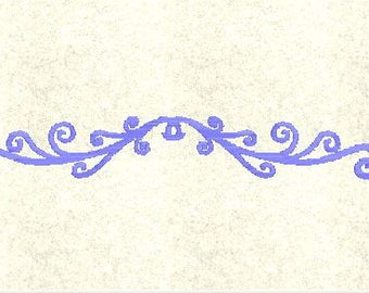 Instant Download - Machine Embroidery Pattern Designs File - Border Scroll - Fits 4x4 Hoop - MULTIPLE FORMATS