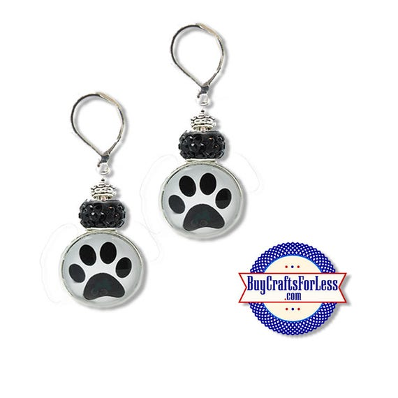 EARRINGS - Paw Print, CAT or DoG Print EARRiNGS +FREE SHiPPiNG & Discounts*