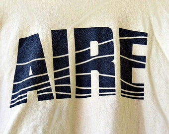 """Aire Tee """"Essential For Life"""" Vintage Miner's Aire Shirt Cotton Men's Size XL Medium Weight Super Soft T Collectible Aire T Shirt For Miners"""
