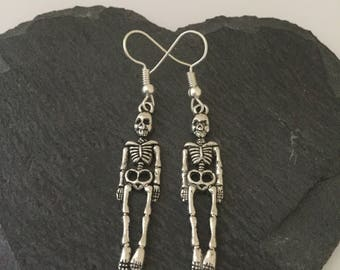 Halloween skeleton earrings / skeleton jewellery / gothic jewellery / Halloween earrings / Halloween jewellery / Halloween gift