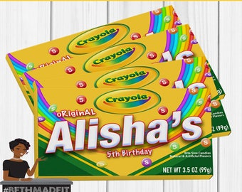 Crayola Birthday Party ,Crayola, Crayon Theme, Party Favors, Party Decor, Kids Digital or  Printed and Shipped