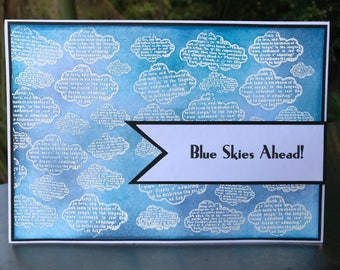 Blue Skies Ahead! Handmade Card