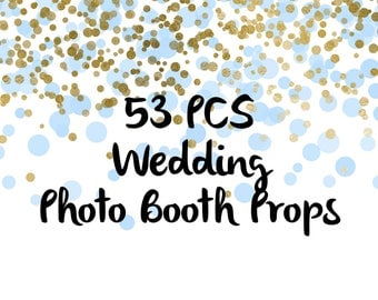 53PCS Wedding Photo Booth Props, Party Props, Photo Booth Props, Party Supplies, Party Decor, Party, Photo props, Wedding Props, Wedding