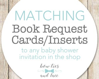 Matching Book Request Insert, Books for Baby, Digital File