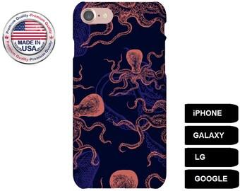 Octopus Phone Case, Phone Case Octopus, Octopus iPhone Case, Octopus Galaxy Case, iPhone 7 Case, iPhone 7 Plus Case, iPhone 6s Case, LG G5