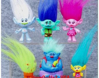 Trolls Dolls | Movie Toy Figures | Set of 6