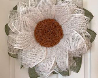 Daisy, Flower wreath, wreaths for front door, sunflower wreath, custom door wreath, spring wreath, best door wreath, door wreaths, decor
