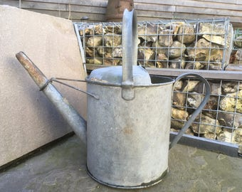 Galvanised Watering Can , Vintage French Garden